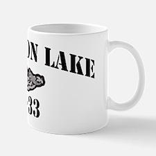 slake black letters Mug