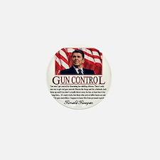 ronald reagan guncontrol Mini Button