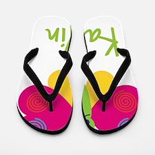 Kaitlin-the-butterfly Flip Flops