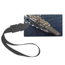 forrestal cv framed panel print Luggage Tag