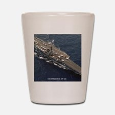 forrestal cv framed panel print Shot Glass
