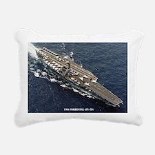 forrestal cv lare framed Rectangular Canvas Pillow