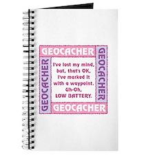 Pink Geocacher Lost Mind Journal