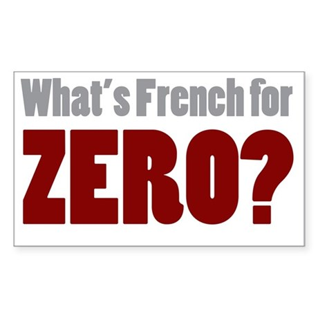 Whats French for Zero Decal by Admin_CP10195474