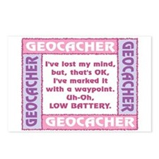Pink Geocacher Lost Mind Postcards (Package of 8)