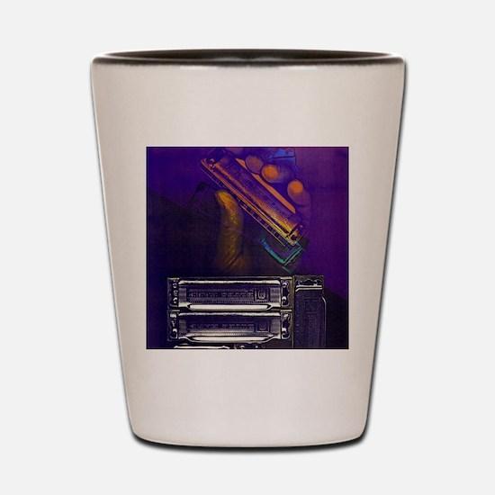 harpbendpuzfin2 Shot Glass