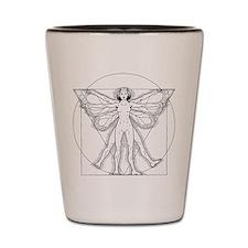 Vitruvian Fairy black Shot Glass