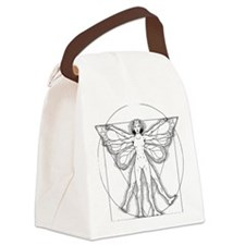 Vitruvian Fairy black Canvas Lunch Bag