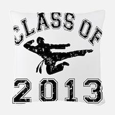 Class Of 2013 - Martial Art 2  Woven Throw Pillow
