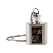 pbook Flask Necklace