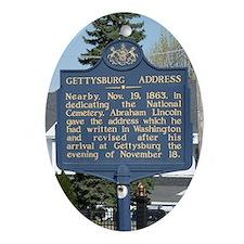 Gettysburg Address Ornament (Oval)
