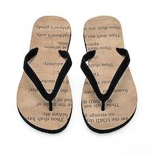 feb11_ten_commandments Flip Flops