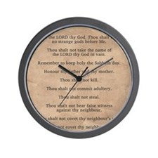 feb11_ten_commandments Wall Clock