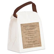 feb11_ten_commandments Canvas Lunch Bag