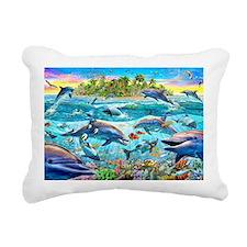 Dolphin Reef Rectangular Canvas Pillow