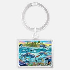 Dolphin Reef Landscape Keychain