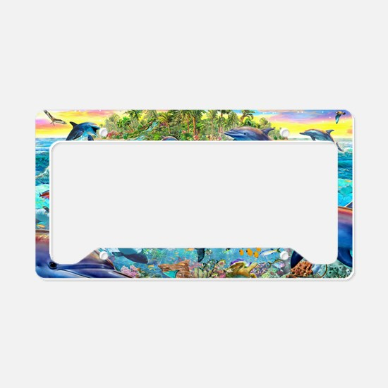 Dolphin Reef License Plate Holder
