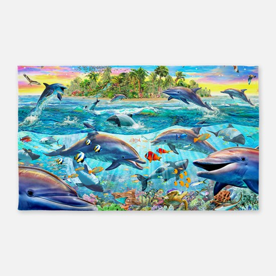 Dolphin Reef 3'x5' Area Rug