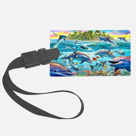 Dolphin Reef Luggage Tag