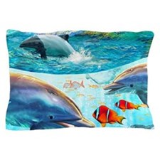 Dolphin Reef Pillow Case