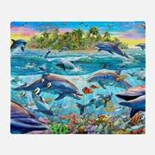 Dolphin Reef Throw Blanket