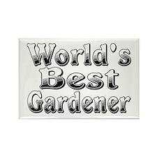 WORLDS BEST Gardener Rectangle Magnet