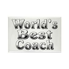 WORLDS BEST Coach Rectangle Magnet