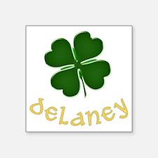 """delaney Square Sticker 3"""" x 3"""""""