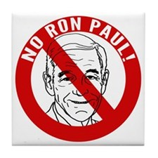 no-ron-paul_tr Tile Coaster