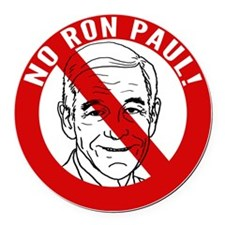no-ron-paul_tr Round Car Magnet