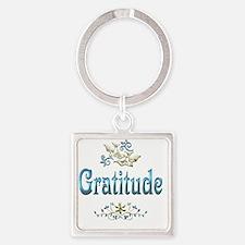 gratitude Square Keychain