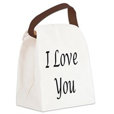 I_love_you Canvas Lunch Bag