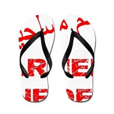 blk_arabic_armed_infidel Flip Flops