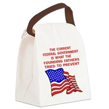 blk_current_fed_gov Canvas Lunch Bag