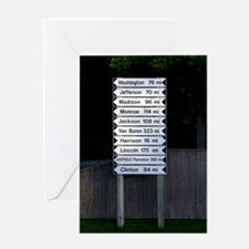 maine directions keychaine Greeting Card