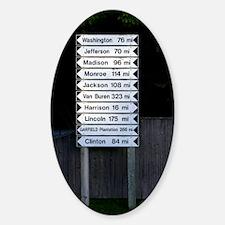 maine directions keychaine Sticker (Oval)