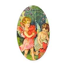 Cupids Heart Box Oval Car Magnet