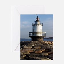 Spring Point Light keychain Greeting Card