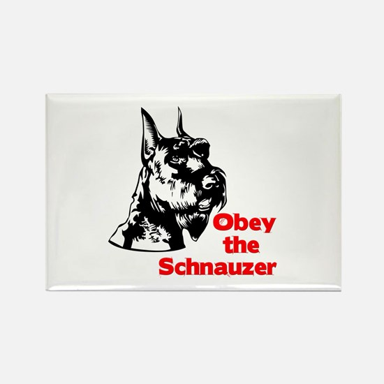Obey the Schnauzer Rectangle Magnet