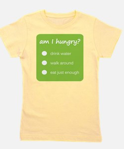 Design - HUNGER CHECK thick text - 10x1 Girl's Tee