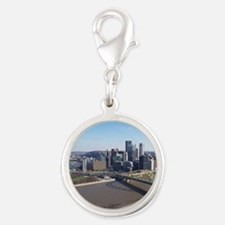 goldentrianglepittsburgh Silver Round Charm