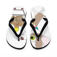 Chihuahua Shopping Flip Flops