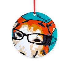 cooperglassesart Round Ornament