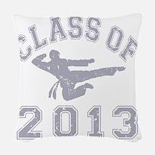 Class Of 2013 Martial Art - Gr Woven Throw Pillow