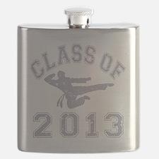 Class Of 2013 Martial Art - Grey 2 D Flask