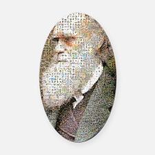Darwin Primate Mosaic Oval Car Magnet