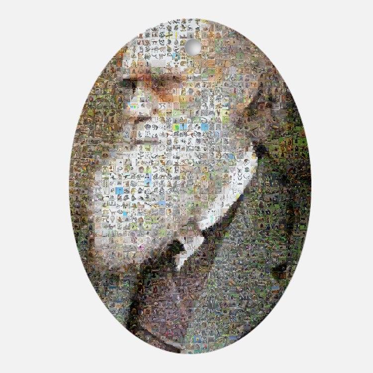 Darwin Primate Mosaic Oval Ornament