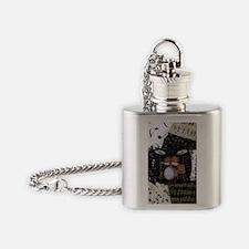 Drum-set-8064-kindle-nook Flask Necklace