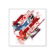 """OLDSKOOL SOUL-NEW SKOOL FLA Square Sticker 3"""" x 3"""""""