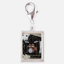 Drum-set-8064-kindle-nook Silver Portrait Charm